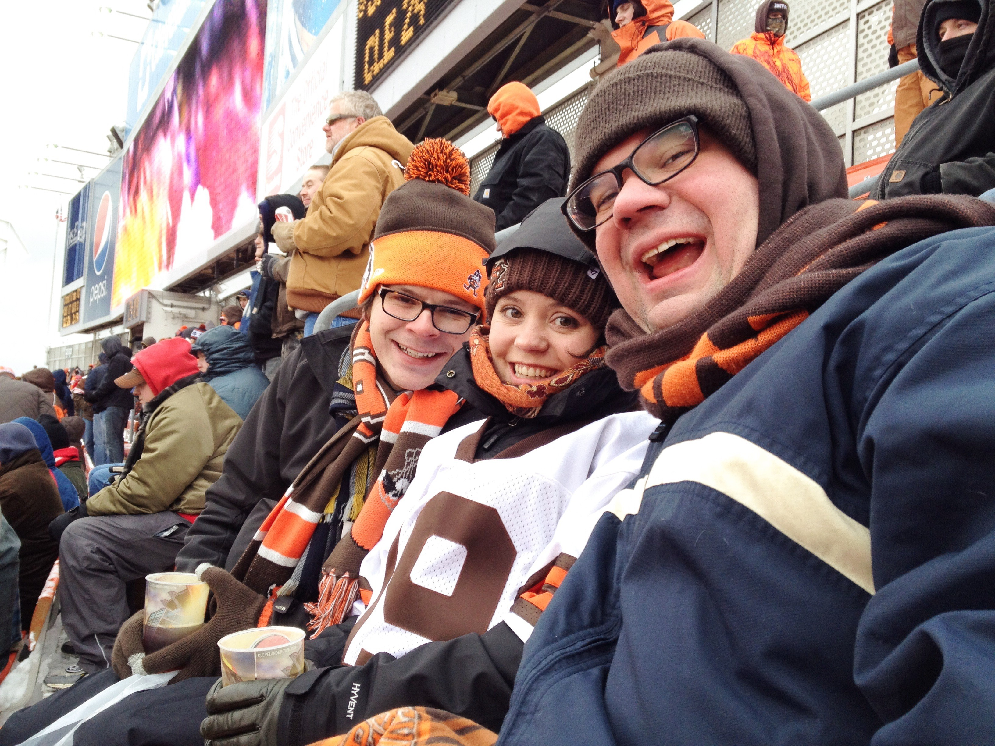 6b1p visits First Energy Stadium to watch the Browns lose in the cold. Sherri not pictured. Photo by Sherri.