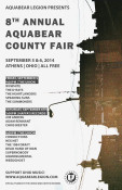 8th annual Aquabear County Fair is this weekend: September 5-6 in Athens, Ohio and is FREE