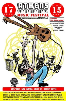 The 17th annual Athens Community Music Festival is this Saturday. Poster by Jason Frederick